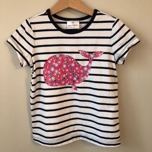 Hanna Andersson • 120 (7/8) • Striped Whale Tee